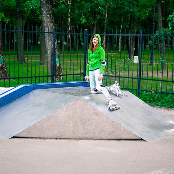 Освоение мини скейт-площадки на Парке Победы