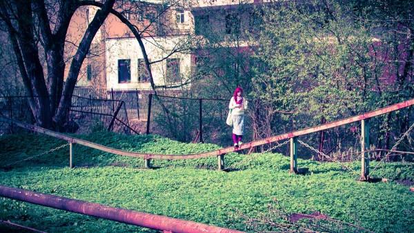 Заброшенный парк аттракционов в Екатерингофском парке