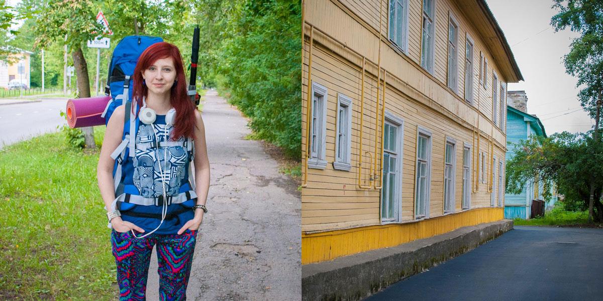 Поход с палатками на Ладогу: город Волхов
